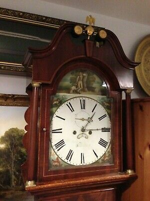 Beautiful Large Antique Marquetry Victorian Oak Longcase/Grandfather Clock 8 Day