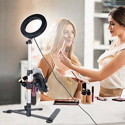 LED Ring Light Phone  Photo Video Stand Holder Selfie Youtube FB Live-Streaming