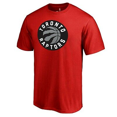 NWT - FANATICS Men's 'TORONTO RAPTORS PRIMARY LOGO' Red S/S T-SHIRT - Medium