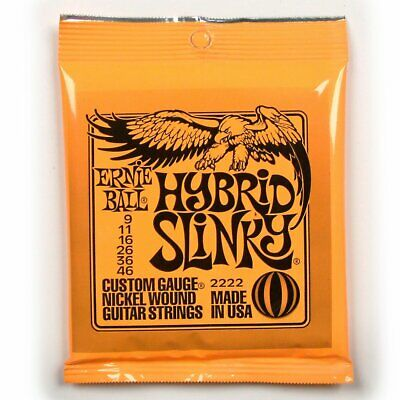 Ernie Ball 2222 Hybrid Slinky Electric Guitar Strings 9-46