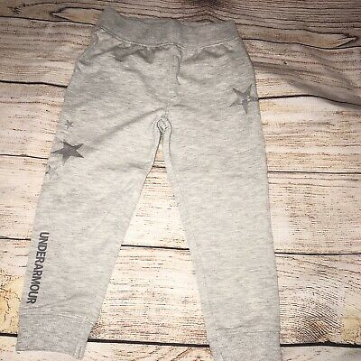 Under Armour 2T Grey Star Jogger Sweatpants Girls NEW