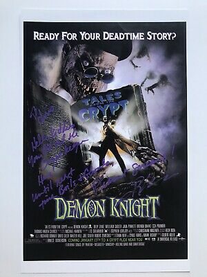 Tales From The Crypt Demon Knight John Kassir Signed / Autographed Movie Poster!