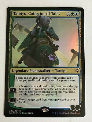 MTG Magic - [1x] TAMIYO, COLLECTOR OF TALES  War of the Spark - FOIL NM