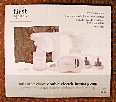 New/Sealed - The First Years Quiet Expressions Plus Double Electric Breast Pump