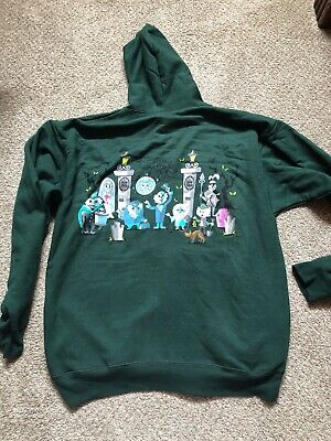 Disney Parks Adult L The Haunted Mansion Hooded  Sweatshirt Hitchhiking Ghosts