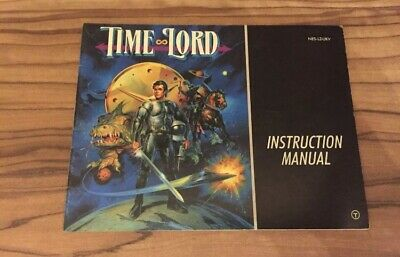 Time Lord NES Nintendo Manual Instructions