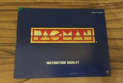 Pac Man NES Nintendo Manual Instructions