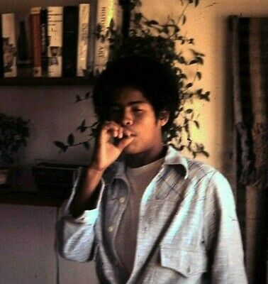 Cool Young Man Smoking Weed Joint Vintage 1977 (3) 35mm Slide