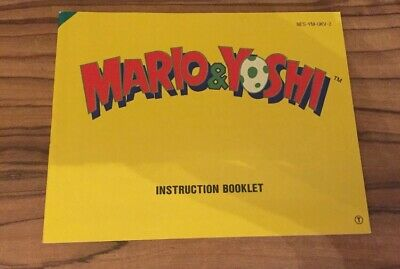 Mario & Yoshi NES Nintendo Manual Instructions
