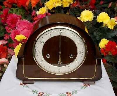 Smiths Antique Art Deco Westminster Chime Mantel Clock, Outstanding!