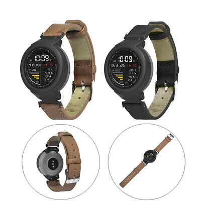 Replacement Leather Wrist Strap Watch Band For Huami Amazfit Verge Youth Watch