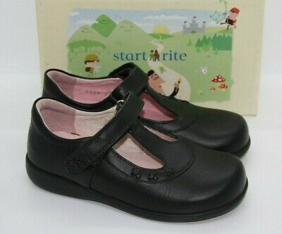 Girl VIOLA black leather  with bow detail School shoe By Start rite SALE £19.99