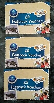 x3 * Merlin * Fastrack Fast Track Vouchers * Thorpe Park *
