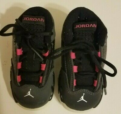 e8796c3c68a Nike Air Jordan Retro XIV Grey Metallic Black Pink Shoes Toddler shoes Size  5C