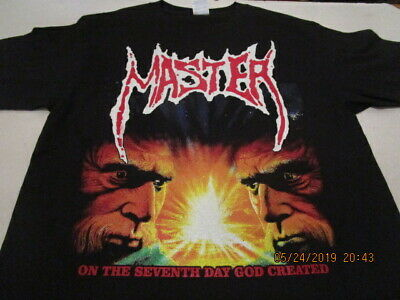MASTER on the seventh day god created... T-SHIRT MEDIUM or LARGE, ABOMINATION