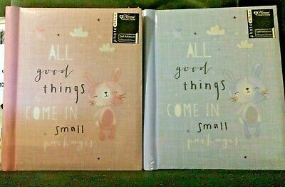 self adhesive baby girl and baby boy photo albums in pink and blue