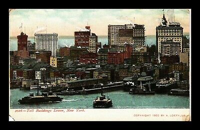 Dr Jim Stamps Us Tall Buildings Lower New York City View Postcard