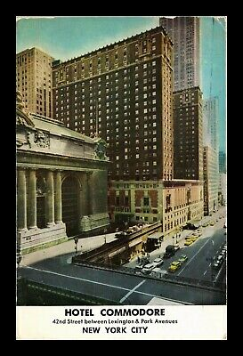 Dr Jim Stamps Us Hotel Commodore Exterior View New York City Postcard