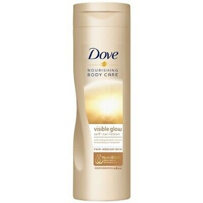 3 x dove visible summer glow self tan lotion body fair to medium skin 250ml