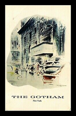 Dr Jim Stamps Us The Gotham Hotel New York City View Postcard