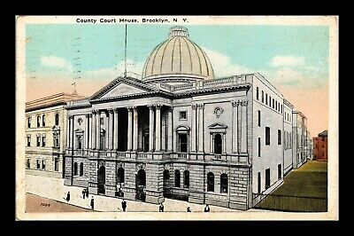 Dr Jim Stamps Us County Court House Brooklyn New York White Border Postcard