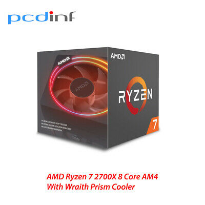 AMD Ryzen 7 2700X  CPU with Wraith Prism Cooler Socket AM4 YD270XBGAFBOX
