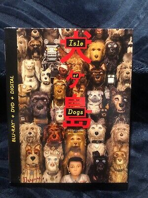 Isle of Dogs (Blu-ray/DVD/Digital, 2018,2-Disc Set) Wes Anderson- Stop Motion