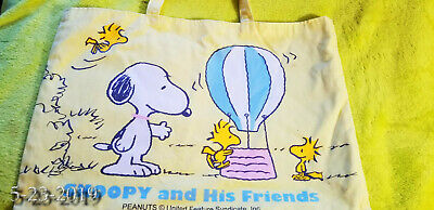 "Rare not sold in stores Peanuts Woodstock Snoopy Eco Shoppers Bag Japan 16""x 11"""