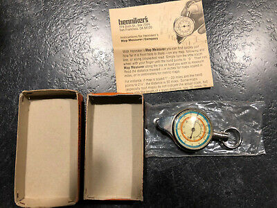 Nos Henniker's Map Measurer Compass Made In Germany Free Shipping
