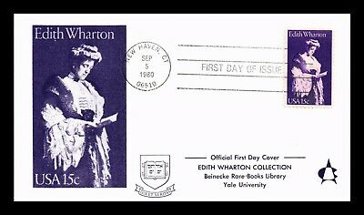 Dr Jim Stamps Us Edith Wharton First Day Cover New Haven Connecticut