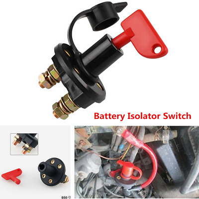 12V/24V 300A Car Truck Battery Isolator Disconnect Cut OFF Power Kill Switch