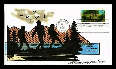 Dr Jim Stamps Us Boy Scouts Youth Organizations Fdc Cover Hand Drawn