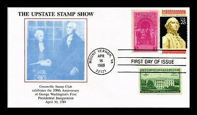 Dr Jim Stamps Us Upstate Stamp Show Executive Branch Fdc Combo Cover