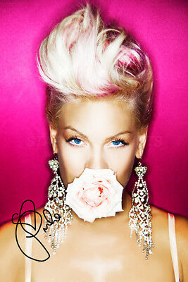 P!nk photo print poster - Pre signed - Superb Quality - Pink - Beautiful Trauma