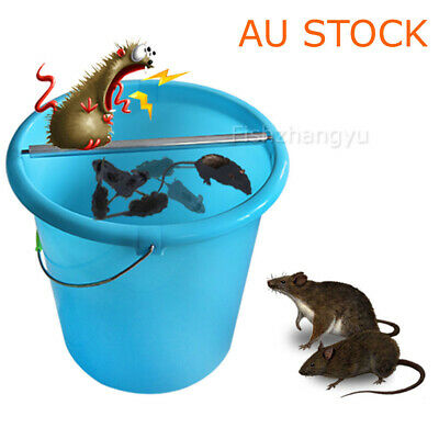 1X Walk The Plank Mouse Trap Catch Auto Reset Humane Bucket Rat Trap Catch Mice