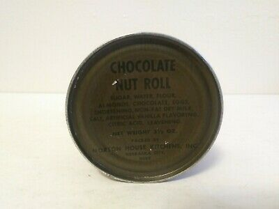 Collectible Vietnam Era 1970 3 1/2 Oz. Can Chocolate Nut Roll Rations Unopened