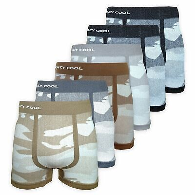 528cac111aed Crazy Cool® Stretches Seamless Mens Boxer Briefs Underwear 6-Pack Set -  Camoufla