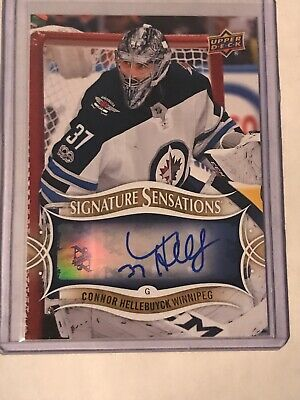 Connor Hellebuyck Signature Sensations Auto #SS-CH - Upper Deck 2018-19