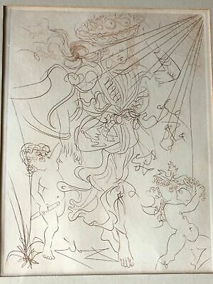 """iVintage Salvador Dali Etching Signed """"Autumn"""" Limited Edition no reserve"""