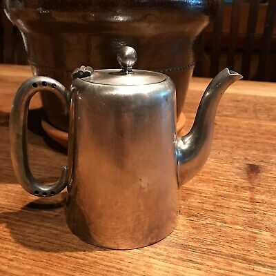 Vintage English  of Sheffield  EPNS A1 Silver Plate  small Teapot Coffee Pot 3/4