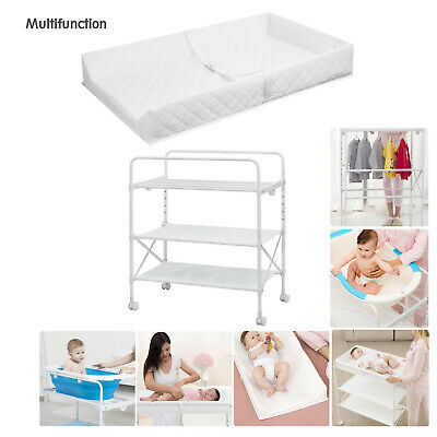 Infant Baby Changing Table Unit Rolling Bath Station Storage Foldable Trays Tub