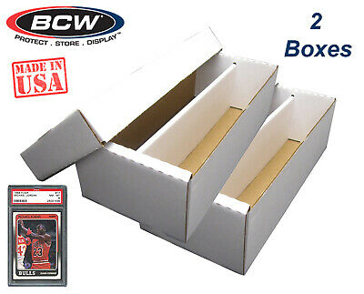 2 BCW Graded Card Shoe Storage Boxes 2 Row PSA Beckett Sport Topload / Certified