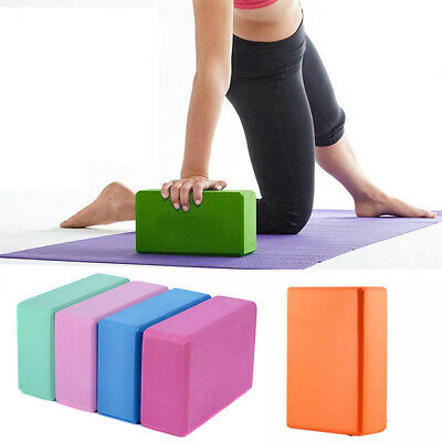 Home Pilates Yoga Block Foaming Foam Brick Exercise Fitness Stretching Aid Gym G