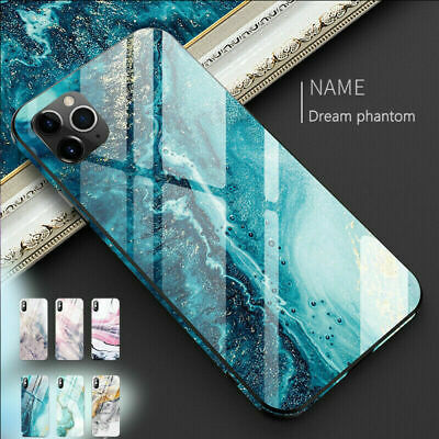 Abstract Marble Full Tempered Glass Cover Case For iPhone 11 Pro Max XS XR X 8 7