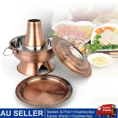 30CM Old Beijing Traditional Hot Pot Steel Chinese Large Copper Charcoal Pot