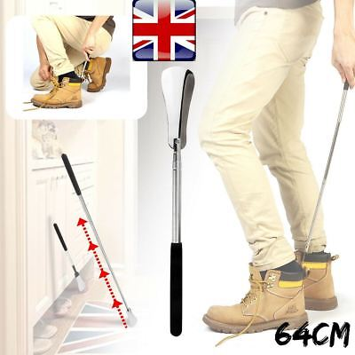 Long Handle Extendable Metal Shoehorn Shoe Horn Remover Mobility Aid Handheld