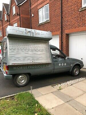 citroen c15 van converted into catering/serving van with manual roller shutter