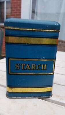 Vintage Collectable Starch Tin Canister