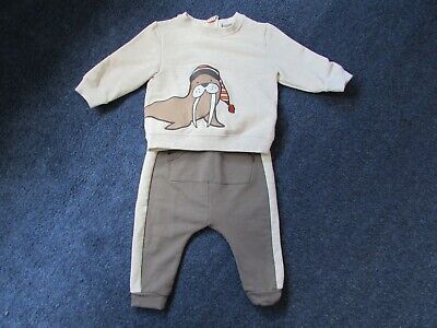 4dcb88db5 Unusual cute Rorie Whelan baby boys 6-9 months cute Walrus top + trousers  set