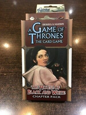 A Game of Thrones THE HOUSE OF BLACK AND WHITE Chapter pack Fantasy flight LCG